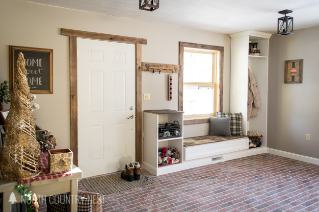 how to lay interior brick pavers in the entryway