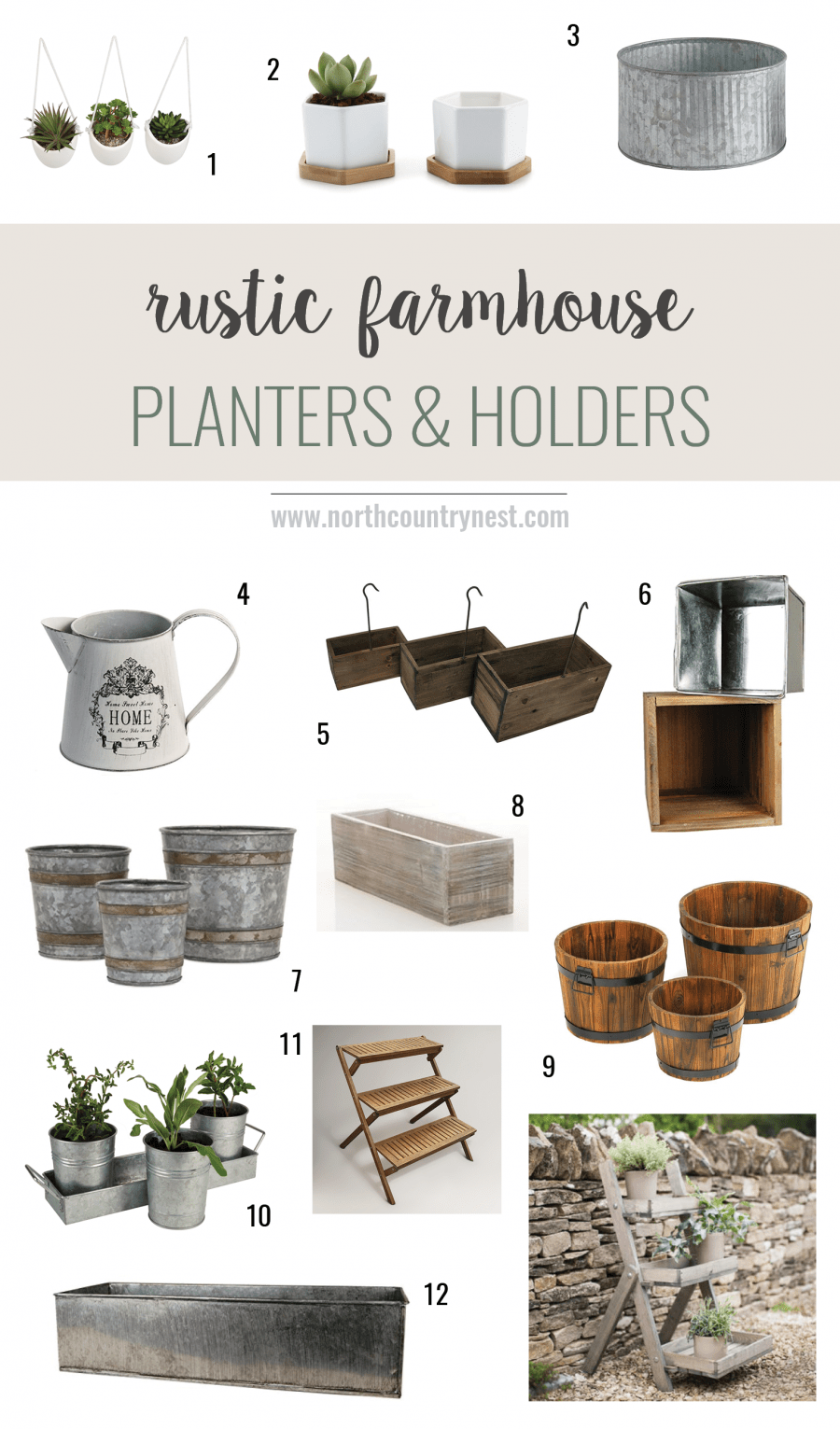 Rustic Farmhouse Planters and Holders