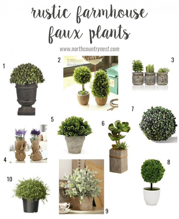 Rustic Farmhouse Faux Plants