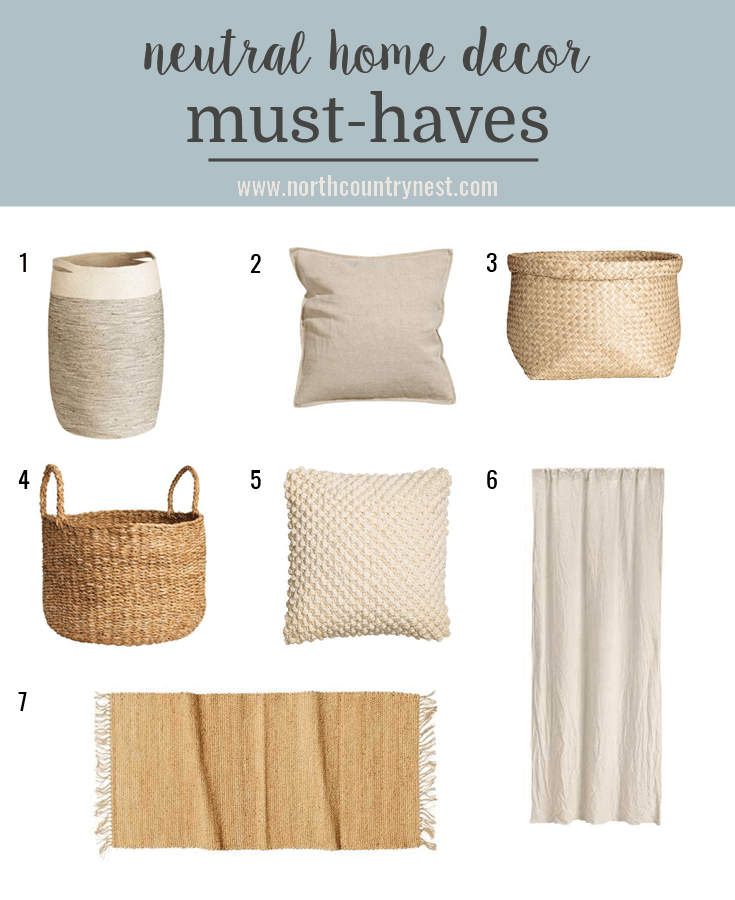 neutral home decor must-haves