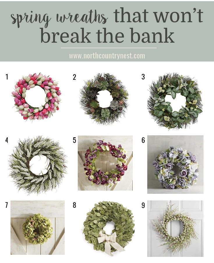 spring wreaths that won't break the bank