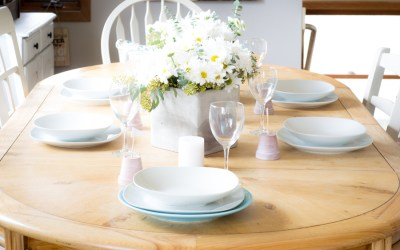Spring Tablescape & A Lesson In Bouquet Making