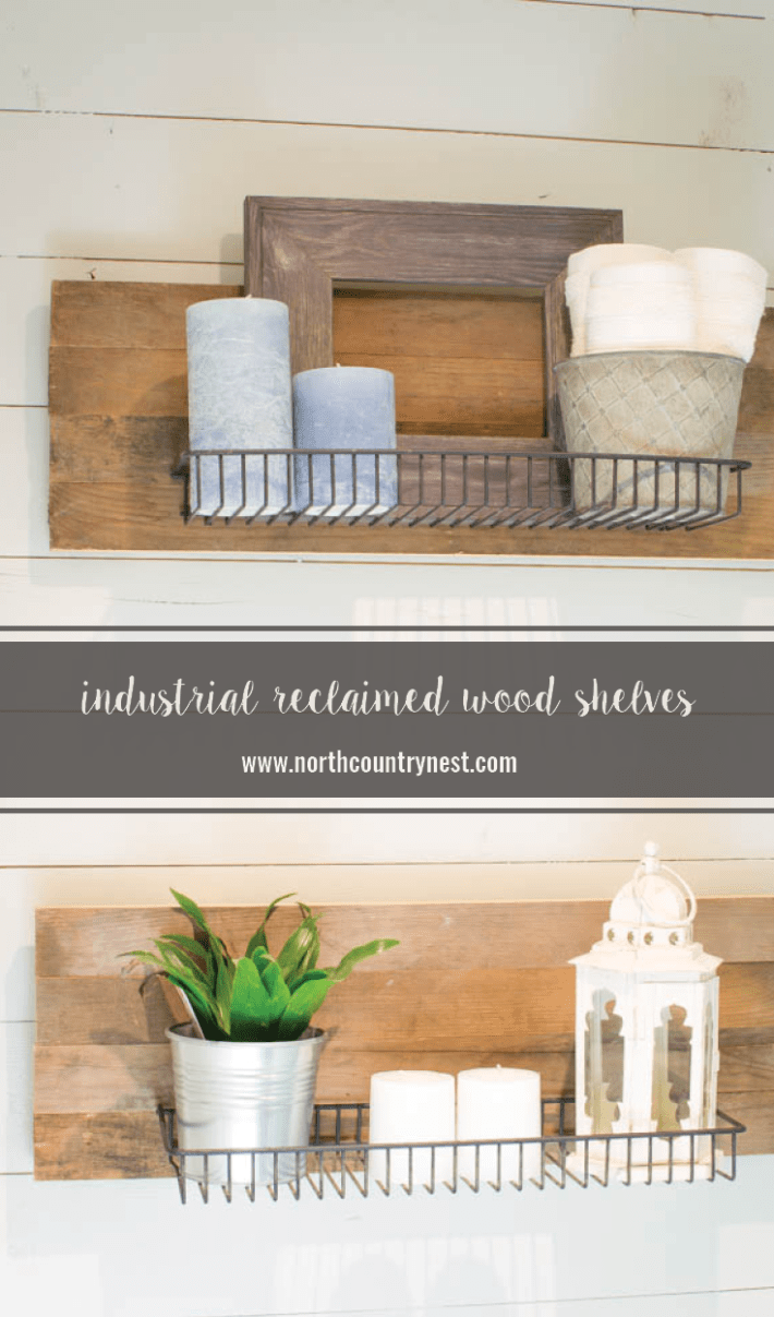 Industrial Reclaimed Wood Shelves