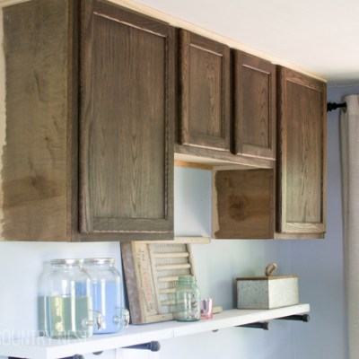 Laundry Room Renovation | New Cabinets and Light Fixtures