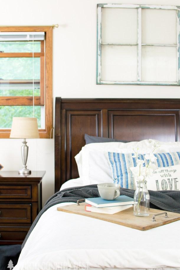 master bedroom summer home tour