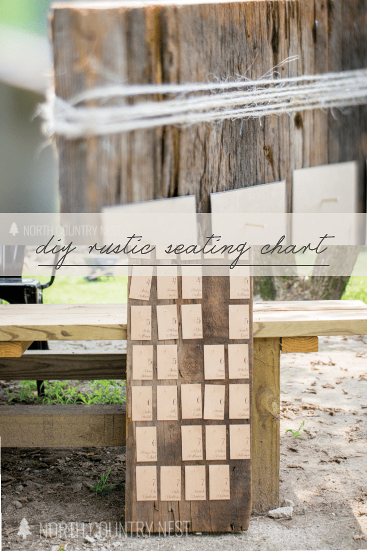 rustic wedding seating chart
