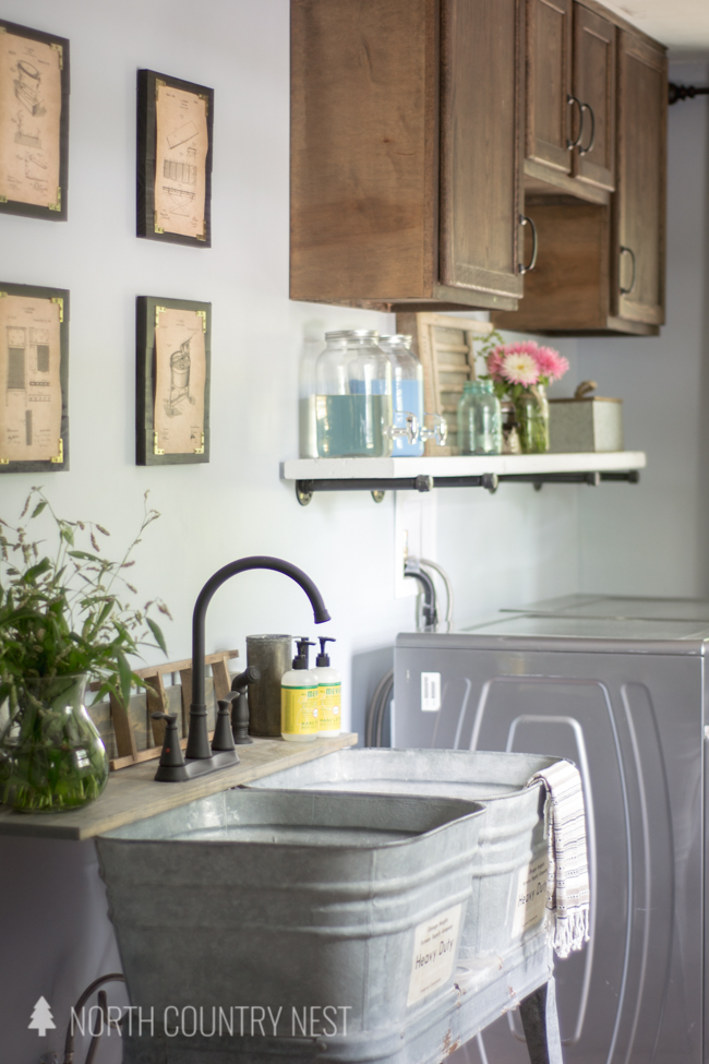 Industrial Laundry Room Part - 21: Industrial Style Laundry Room Reveal