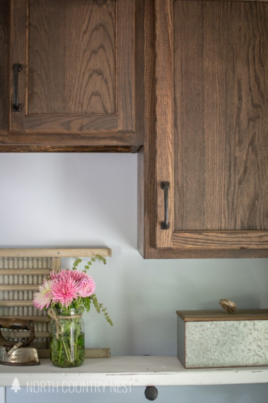 industrial style laundry room reveal