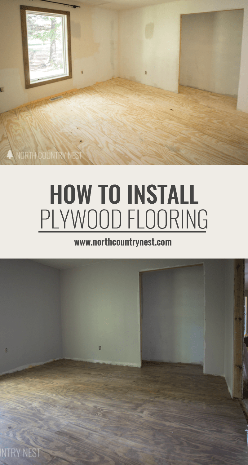 How to easily install plywood flooring