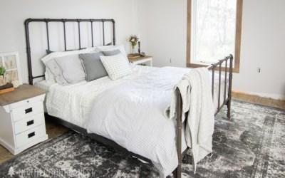 One Room Challenge Week Three: The Bed, Bedding & Nightstands