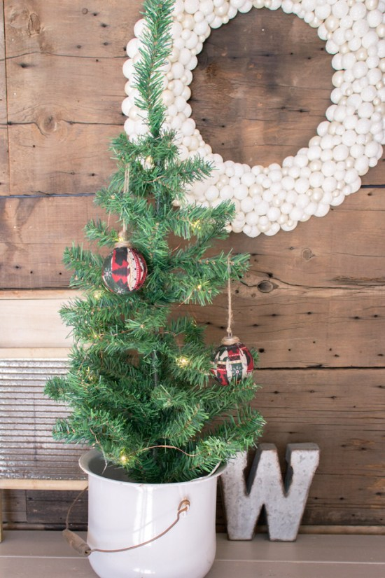 DIY rustic christmas ornament
