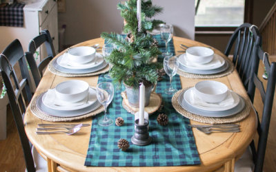 Rustic Buffalo Check Holiday Tablescape