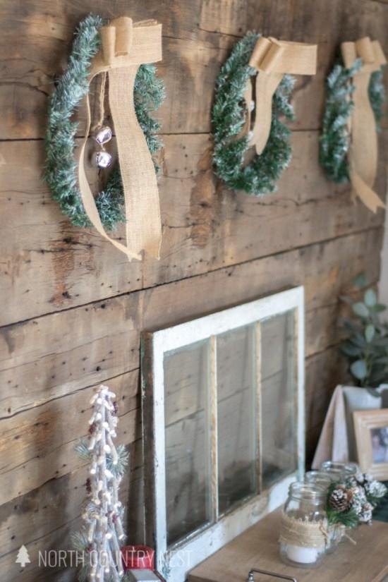 rustic entryway holiday decor