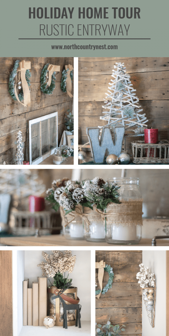 holiday home tour rustic entryway