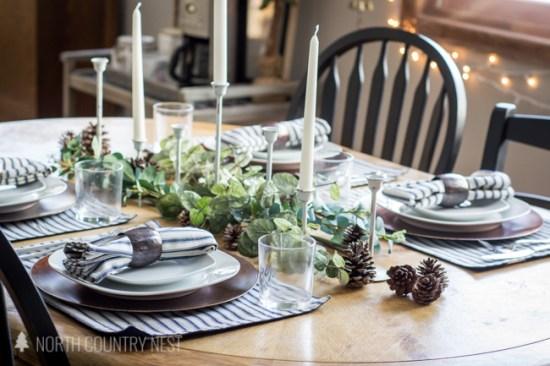 farmhouse winter tablescape