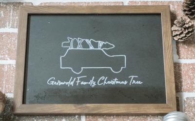 DIY Christmas Vacation Chalkboard Sign