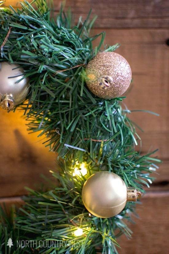 dollar store holiday wreath