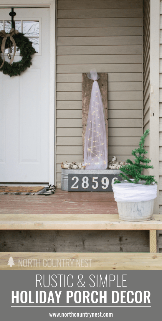 rustic and simple holiday porch tour
