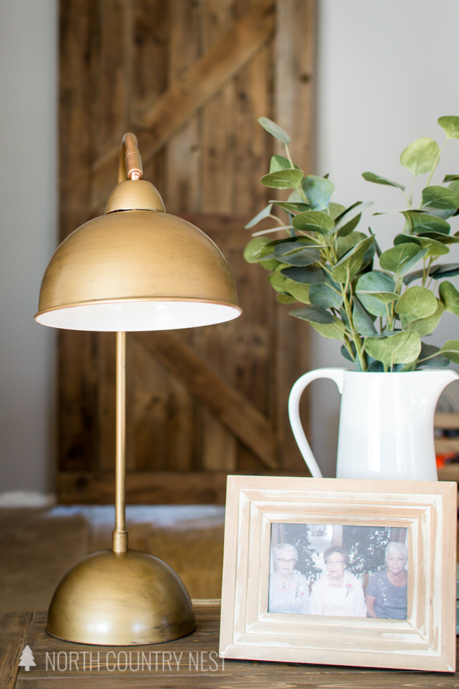 antique brass side table lamp