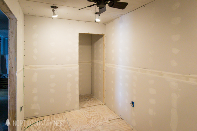 drywall in office