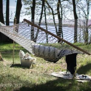 backyard hammock overlooking minnesota lake