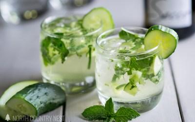 Cucumber Mint Fizz Cocktail