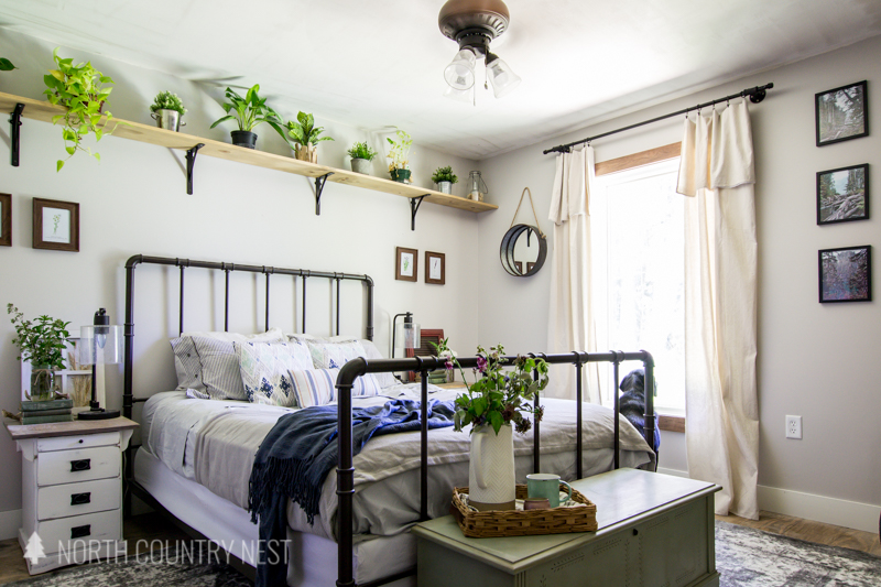 Simple Blue Summer Bedroom Decor North Country Nest