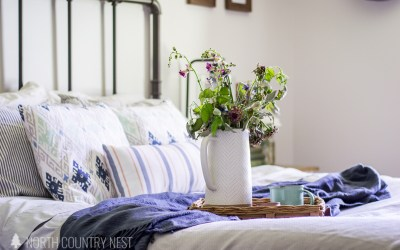 Simple Blue Summer Bedroom Decor