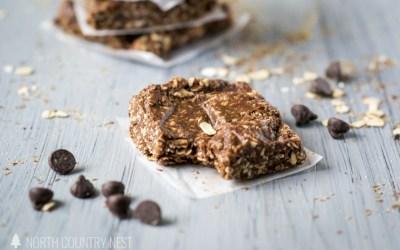 No Bake Gluten Free Chocolate Peanut Butter Granola Bars
