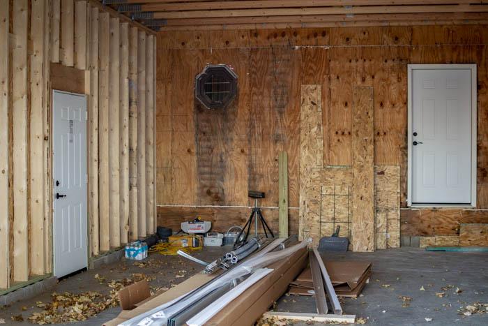 two garage service doors