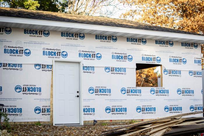 garage service door and window cutout
