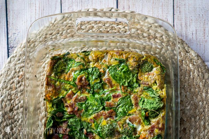 breakfast casserole in pan