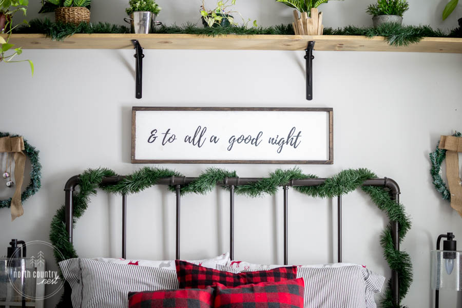 and to all a good night rustic sign
