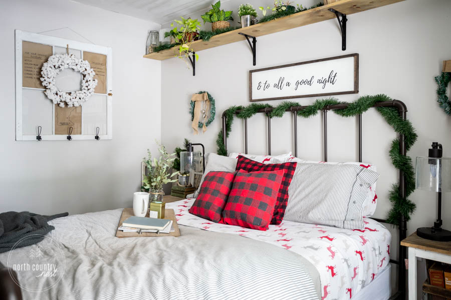 rustic holiday guest bedroom home decor