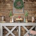 rustic holiday decor and barn wood wall