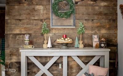 Rustic Farmhouse Holiday Home Decor Tour + Blog Hop