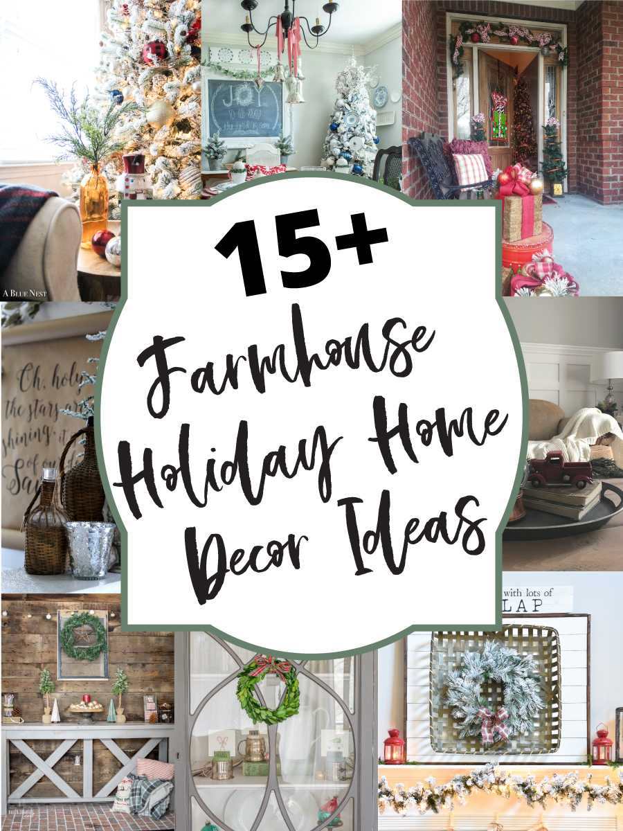 farmhouse holiday home decor ideas