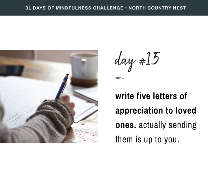 Mindfulness Challenge Day 15: Write Five Letters of Appreciation to Loved Ones
