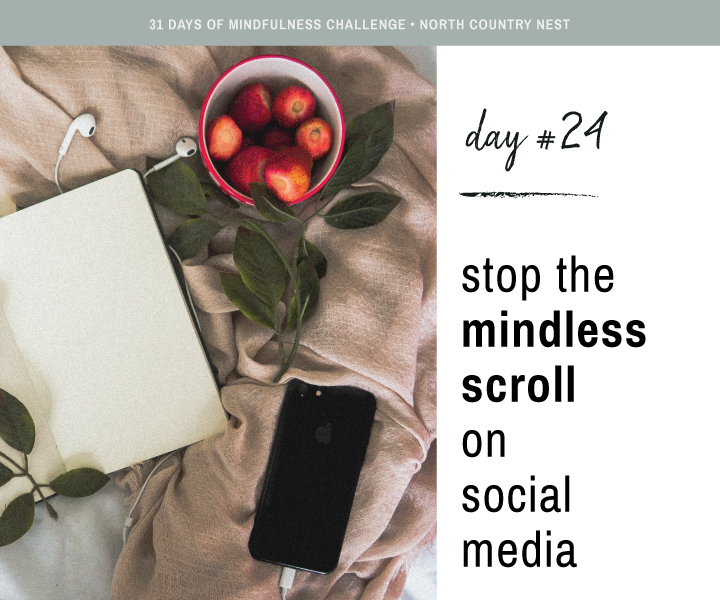 Mindfulness Challenge Day 24: Stop The Mindless Scroll on Social Media