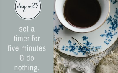 Mindfulness Challenge Day 25: Do Nothing for Five Minutes