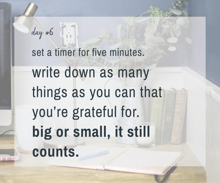 Mindfulness Challenge Day 6: Practice Gratitude
