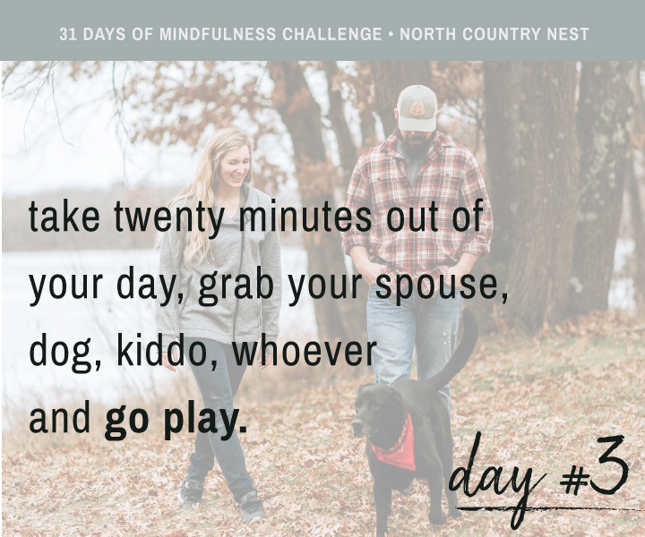 Mindfulness Challenge Day 3: Play for 20 Minutes