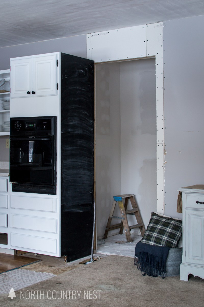 unfinished pantry in north country nest home