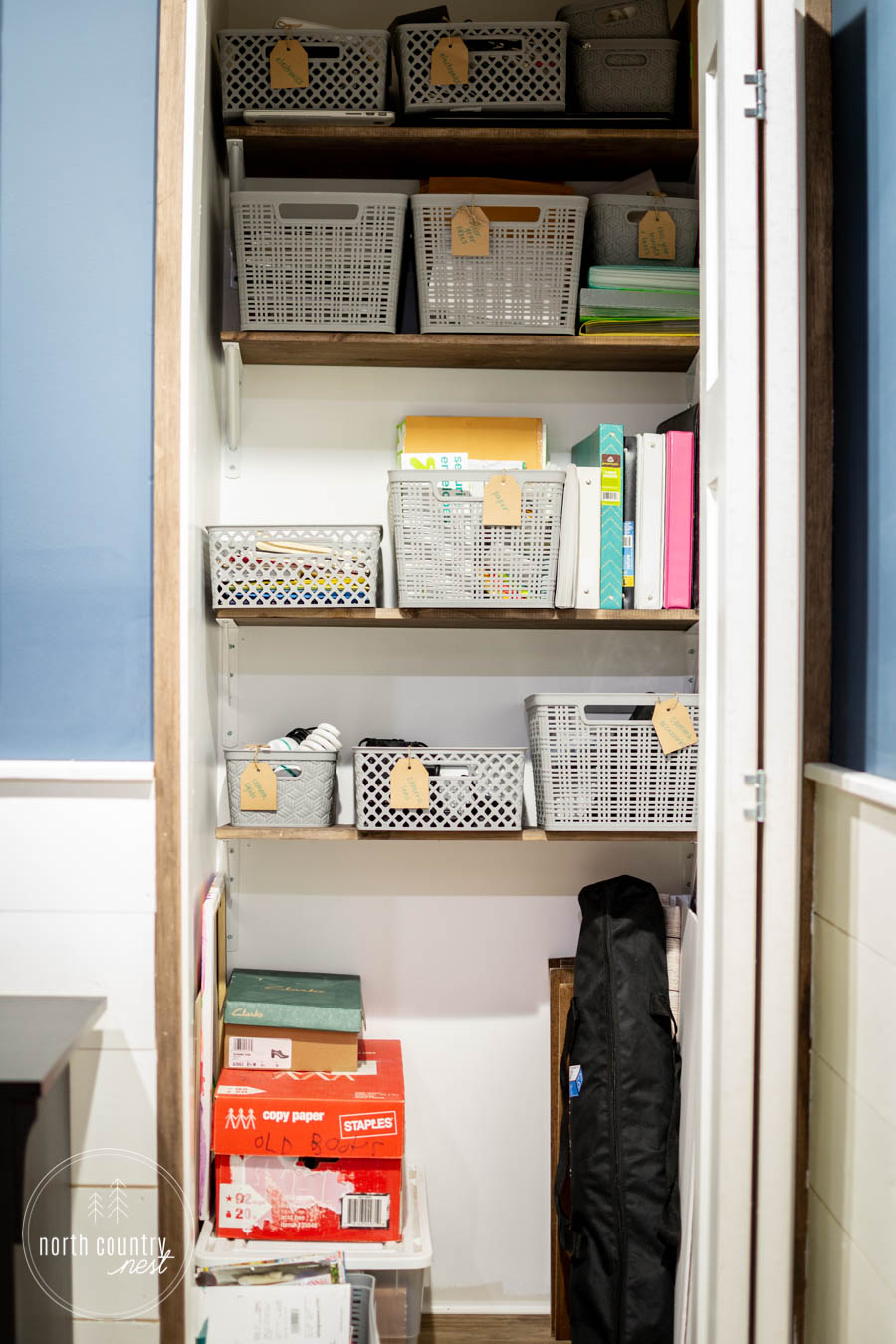 rustic home office closet storage