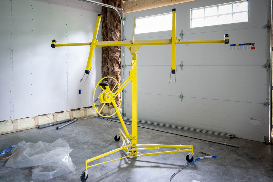 drywall lift for garage renovation