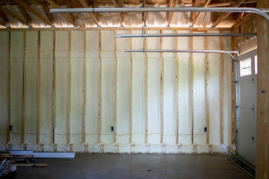 spray foam insulation in garage