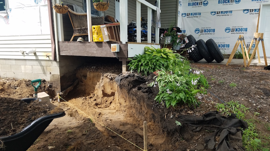 Removing an existing retaining wall