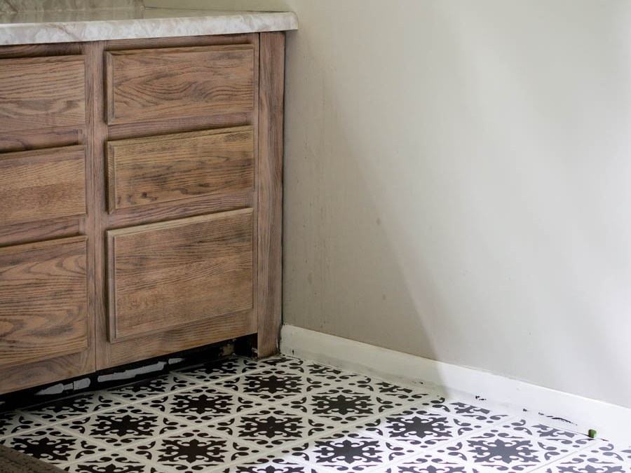 A Bathroom Update: How to Paint Your Bathroom Tile Floor
