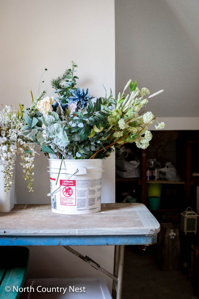 How to Store Faux Florals in Five Gallon Buckets