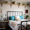 Neutral spring guest bedroom decor